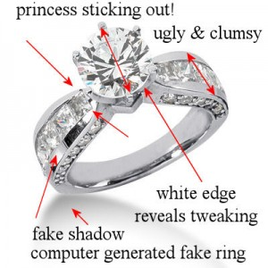 ugly round and princess cut ring-1
